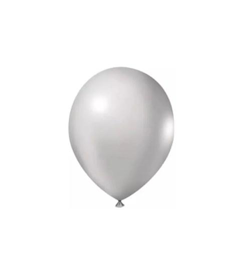 Balão Metal Prata 50 Unidades