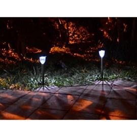 Balizador Solar ABS Luz Branca 6000K Ecoforce