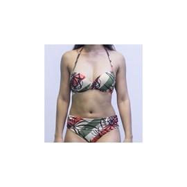 Biquini Morena Rosa Bojo Meia Taça / Calcinha Hot Pant
