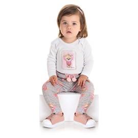Conjunto Body Manga Longa + Calça Ursinho - IAZE Bebê