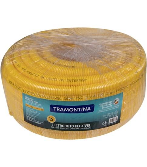 """Eletroduto Corrugado Leve Flexível DN25 3/4"""" Tramontina 50 m"""