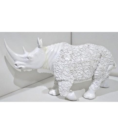 Escultura Rinoceronte em Ceramica